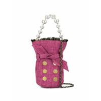 Kooreloo Bolsa Bucket Mini De Tweed - Rosa