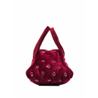 Khaore Bolsa De Mão Com Detalhe De Aplicação Floral - Vermelho