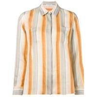 Loro Piana Camisa Listrada - Neutro