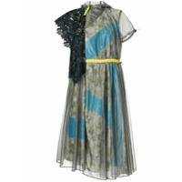 Kolor Vestido Com Padronagem Floral - Prateado