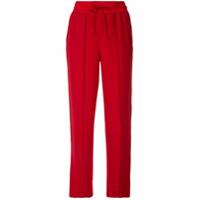 Anteprima Calça Pantalona Com Listra Lateral - Vermelho