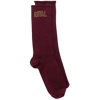 Dolce & Gabbana Par de meias 'Royal' - Vermelho