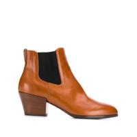 Hogan Ankle Boot Com Contrastante - Marrom