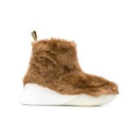 Stella Mccartney Ankle Boots Com Detalhe De Pele Sintética - Marrom