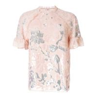 Needle & Thread Camiseta Com Detalhe Bordado - Rosa