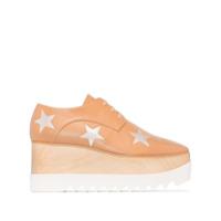 Stella Mccartney Sapato Derby Elyse Com Plataforma De 80Mm - Marrom
