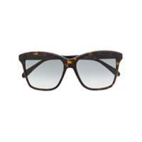 Givenchy Eyewear Óculos De Sol Oversized - Marrom