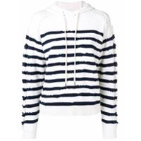 Barrie Suéter De Cashmere Com Capuz - Branco