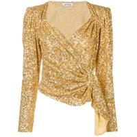 Attico Blusa Com Paetês - Dourado