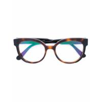 Marni Eyewear Óculos Com Armação Redonda - Marrom