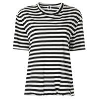 Bassike Camiseta Gola Redonda - Preto