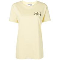 Courrèges Camiseta Com Logo - Amarelo