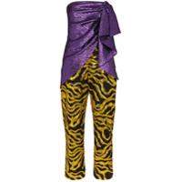 Halpern Multi-Textured Jumpsuit - Roxo