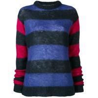 Rokh Striped Colour Block Sweater - Azul