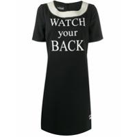 Boutique Moschino Vestido Watch Your Back - Preto