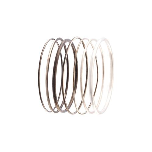 Imagem de Ann Demeulemeester Conjunto pulseiras de prata - Metálico