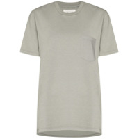 Les Tien Camiseta Decote Careca Com Bolso - Cinza