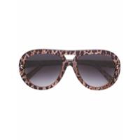 Stella Mccartney Eyewear Óculos De Sol Aviador - Marrom