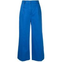 Sonia Rykiel Cropped Wide-Leg Trousers - Azul