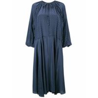 Lee Mathews Vestido 'queenie' De Seda - Azul