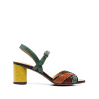 Chie Mihara Sandália Hubris Color Block - Verde