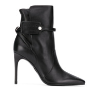 Off-White Ankle Boot Com Bico Quadrado - Preto