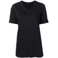 Neil Barrett Camiseta Com Mangas Dobradas - Preto