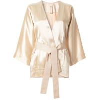 Zero + Maria Cornejo Kimono Com Cinto - Marrom