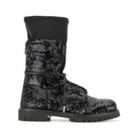 Rta Ankle Boot Com Paetês - Preto