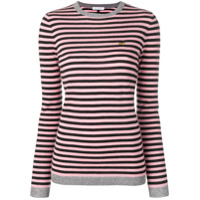 Bella Freud Striped Print Top - Preto