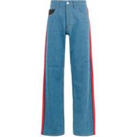 Koché Calça Jeans Com Listra Lateral - Azul