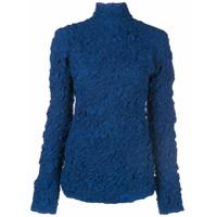 Lemaire Crinkled Turtleneck Top - Azul