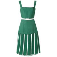 Adriana Degreas Vestido Midi 'wimbledon' Cinto - Verde