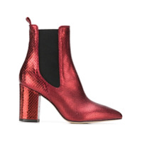 Paris Texas Block Heel Ankle Boots - Vermelho