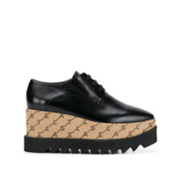 Stella Mccartney Sapato Elyse Monogramado - Preto