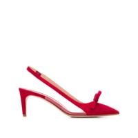 Red Valentino Sapato De Camurça Com Bico Fino - Vermelho