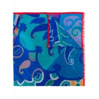 Etro Echarpe Com Padronagem - Azul