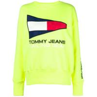 Tommy Jeans Moletom 'sailing Gear' Com Logo - Amarelo