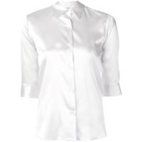 Blanca Camisa Slim - Cinza