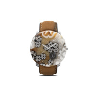 Yunik Relógio Redondo Klimt 44Mm - Brown/white
