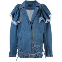 Pony Stone Jaqueta Jeans Maggie Oversized - Azul