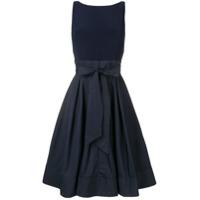 Lauren Ralph Lauren Vestido Com Aplicação De Laço 'yuko' - Azul