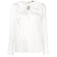 Dodo Bar Or Blusa Animal Print Com Aplicações - Branco