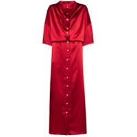 Y/project Vestido Longo Infinity Com Abotoamento - Vermelho