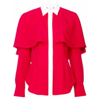 Sara Battaglia Camisa Pelerine - Vermelho