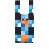 Marni Market Bolsa Tote Com Logo - Azul