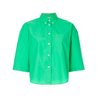 Ck Calvin Klein Camisa Cropped - Green