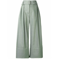Eudon Choi Cropped Palazzo Trousers - Verde