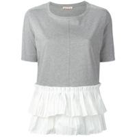 Marni Camiseta Com Detalhe Plissado - Cinza
