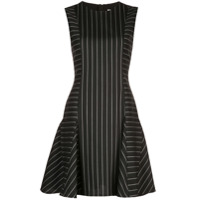 Jason Wu Collection Vestido Godê Listrado - Preto